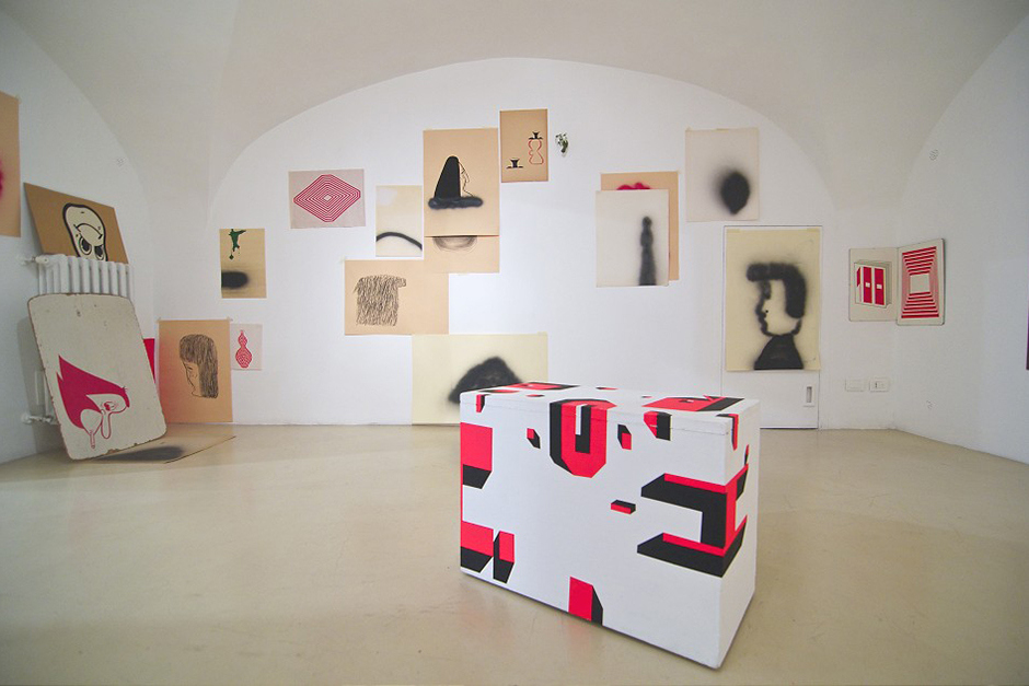 barry-mcgee-and-clare-rojas-exhibition-alessandra-bonomo-gallery-in-rome-7