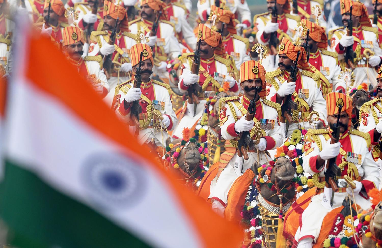 TOPSHOT-INDIA-FRANCE-REPUBLIC DAY PARADE