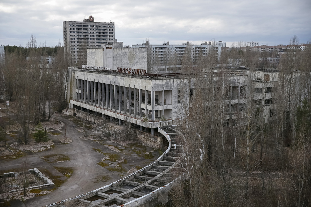 A view of the abandoned city of Pripyat near the Chernobyl nuclear power plant
